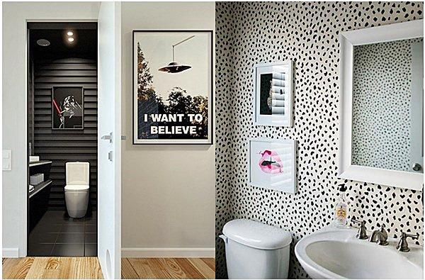 Os Melhores Quadros Pequenos Para: Banheiro-preto-e-branco-09-quadros-parede