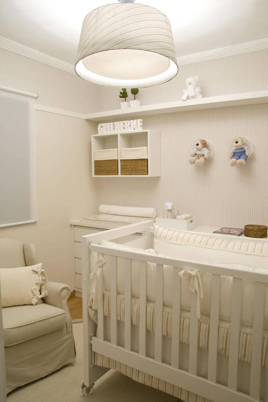 05 decoracao de quarto de bebe masculino todo em tons neutros Viviana ReisViviana Reis -> Decoração De Quarto De Bebe Pequeno Masculino