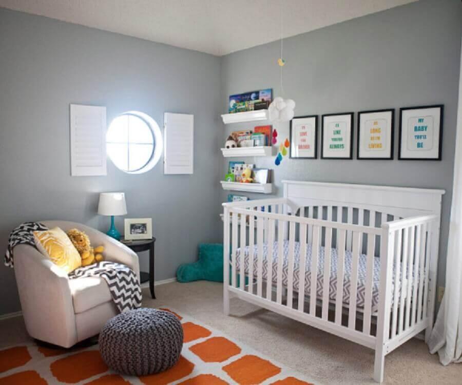 Quarto de Beb u00ea Pequeno Ideias e Dicas de Decoraç u00e3o + ModelosViviana Reis -> Decoração De Quarto De Bebe Pequeno Masculino